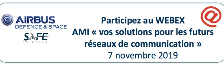 """[Relais d'info] WEBEX d'information sur l'AMI """"Vos solutions pour les futurs réseaux de communication"""""""