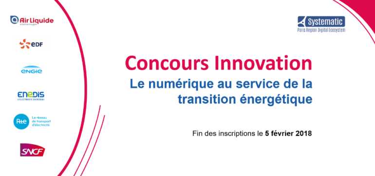 Plus qu'un mois pour candidater au Concours Innovation : Le numérique au service de la transition énergétique !