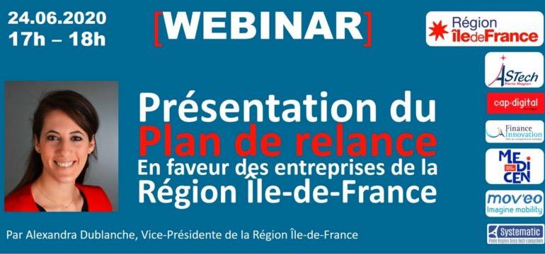 [Retour sur] Présentation du Plan de Relance de la Région Ile-de-France par Alexandra Dublanche