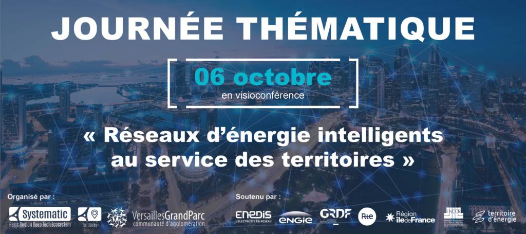 Journée Thématique de l'Enjeu Territoires du Pôle Systematic : les réseaux d'énergie intelligents au service des territoires