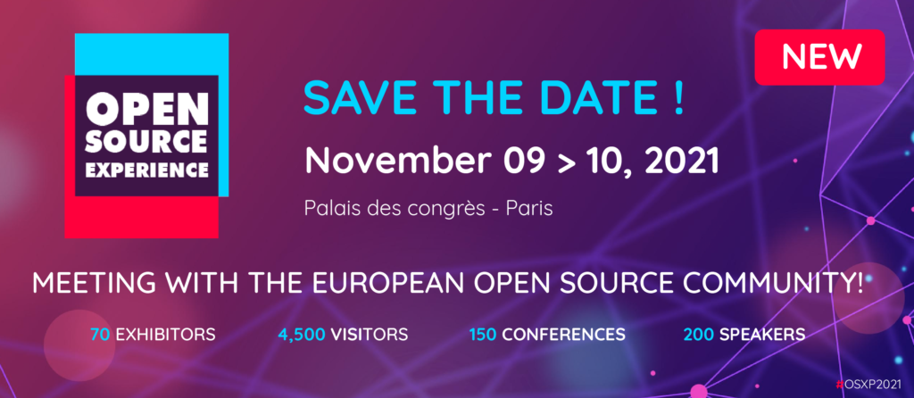 Save The Date Open Source Experience 2021