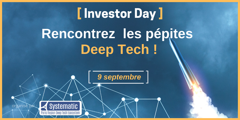 [Save the date] Le 9 septembre Investor Day Deep tech