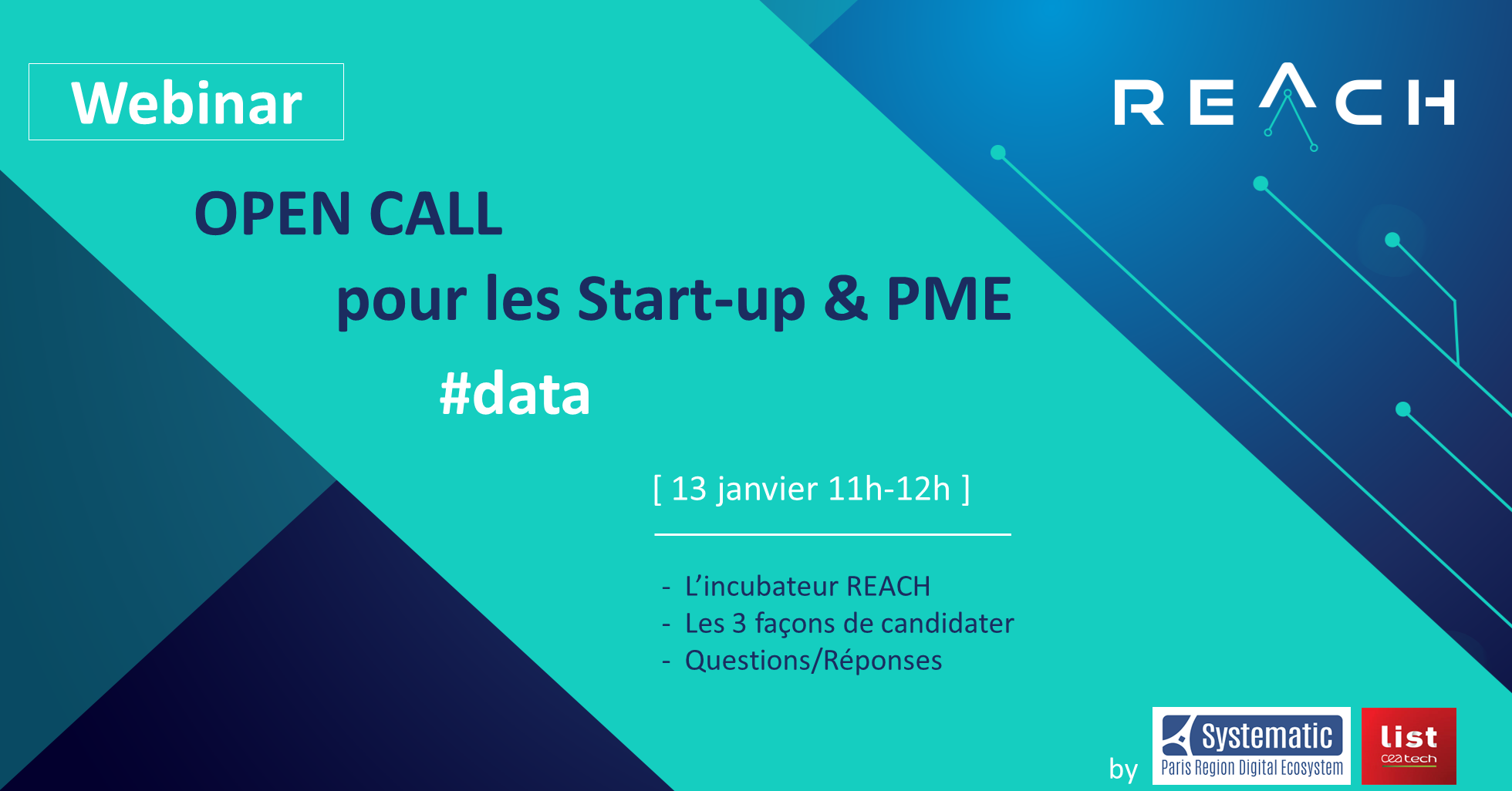Webinar – Information Open Call REACH Incubator (EU H2020 Big Data)